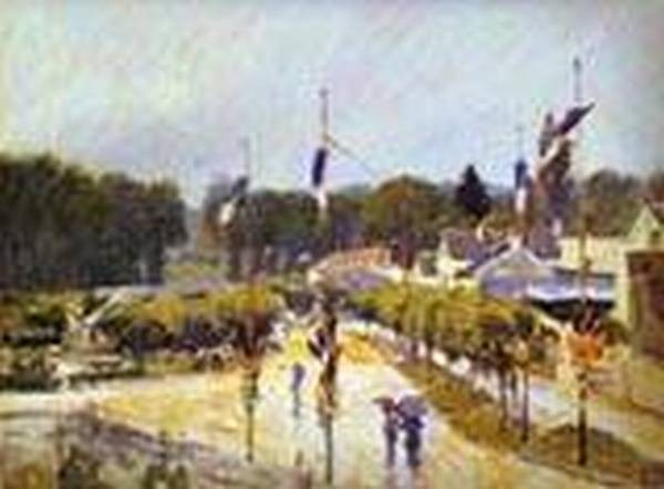 fete day at marly le roi formerly the fourteenth of july at marly le roi 1875 XX cecil higgins art gallery bedford uk